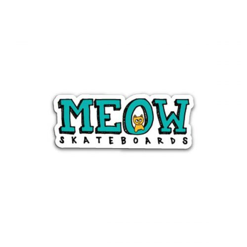 Logo Sticker Buy Meow Skateboards Canada Online Sales Vancouver Pickup