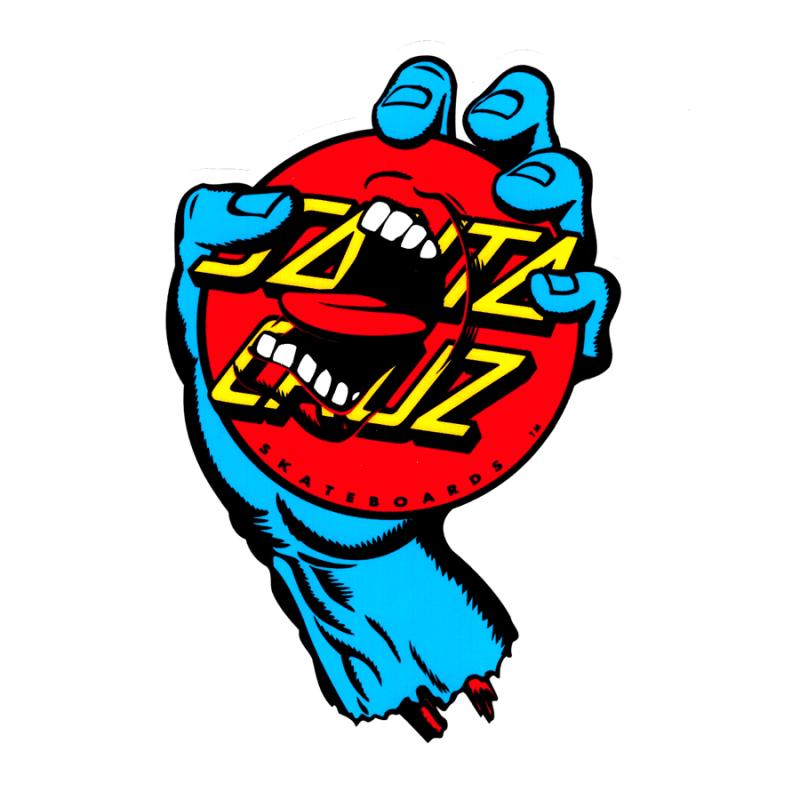 "Santa Cruz Screaming Dot Sticker 6"" x 4.25"""