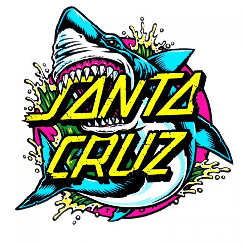 "Santa Cruz Shark Dot Sticker 5"" x 6"""
