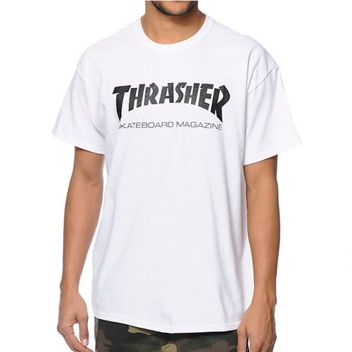Thrasher Magazine Logo T Shirt White