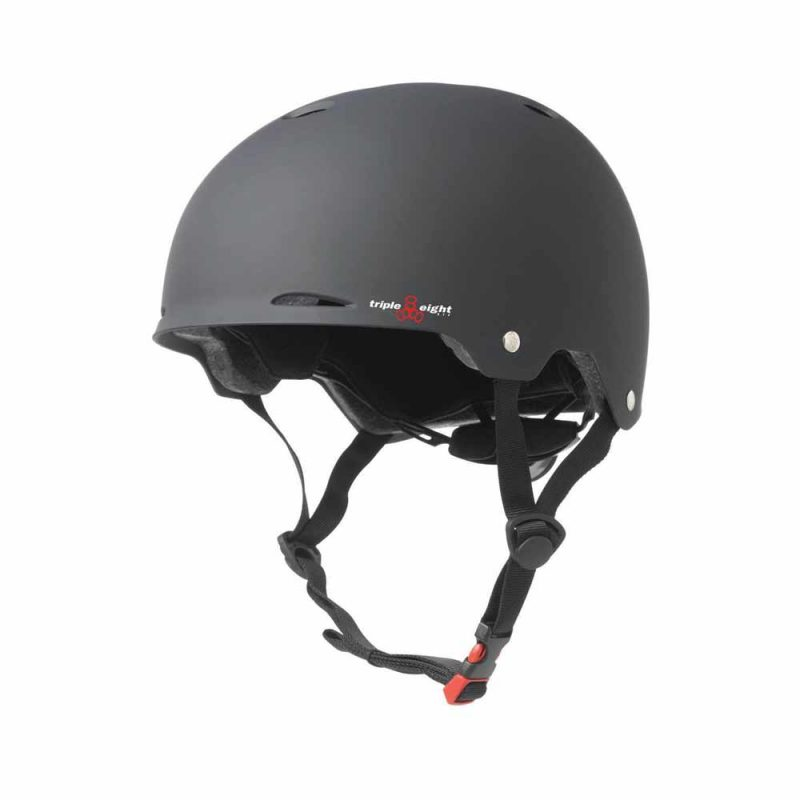 Triple 8 Gotham Helmet Black Rubber