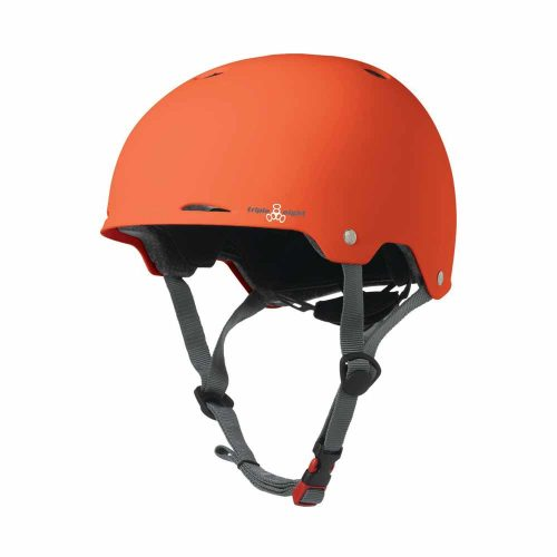 Triple 8 Gotham Helmet Orange Rubber