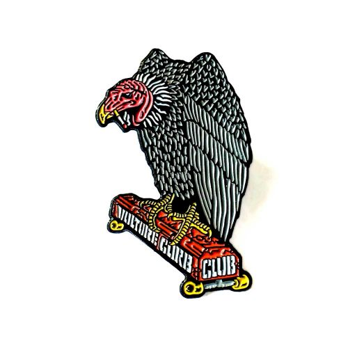 Buy Black Label Vulture Curb Club Enamel Pin online Canada pickup Vancouver