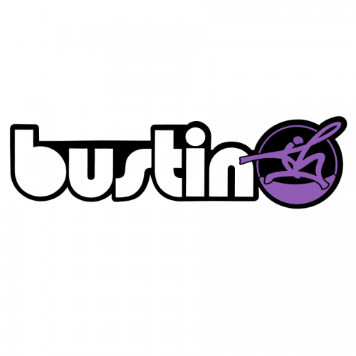 "Bustin Logo Purple 9"" x 2.5"" Sticker"