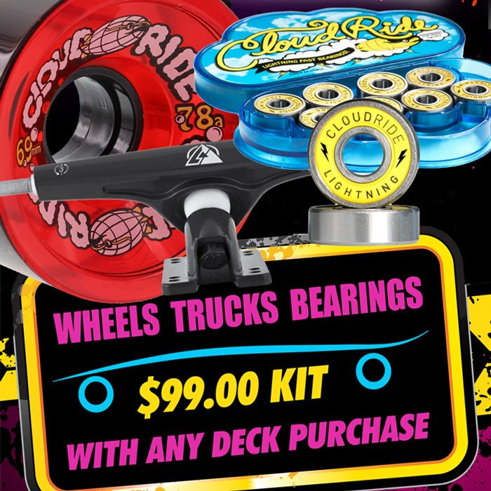 99 Dollar Kit Deal Wheels Truck Bearings by Atlas and Cloud Vancouver Skateshop