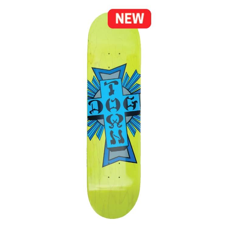 "Buy Dogtown Street Cross Logo 8.25'' x 32.5"" Deck Neon Yellow Canada Online Vancouver Pickup"