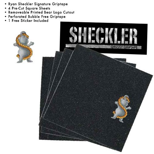 Grizzly Griptape Sheckler Squares (4 Pack)