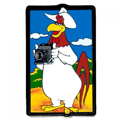 Prime Jason Lee Camera Foghorn Character Pin 1.25'' x .75''