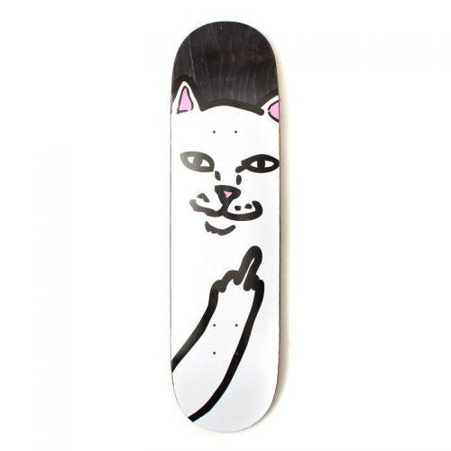 Rip N Dip Lord Nermal Black Skateboard Deck 8.25'' x 31.25''