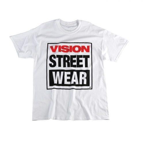 Vision Logo White Tee
