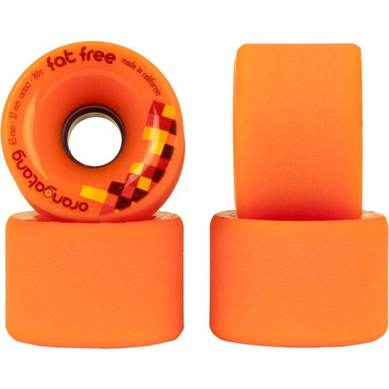 Orangatang Fat Free 65mm 80a Orange set