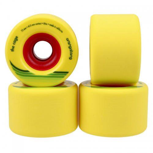 Orangatang Cage 73mm 86a Yellow