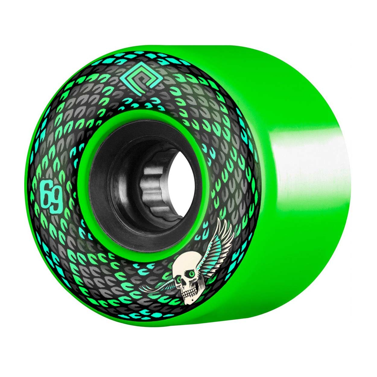 Powell Peralta Snakes 69mm 75a Wheels Green Calstreets Boarderlabs