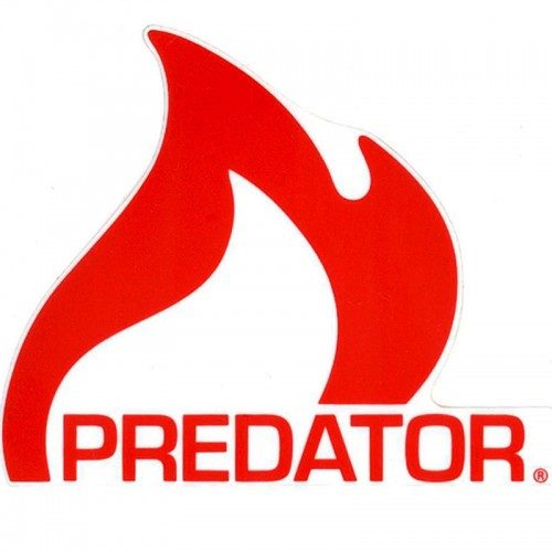 "Predator Flame Logo 4.5"" x 4"" Sticker"