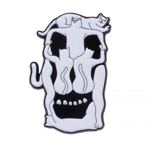 "Buy Rip N Dip Nerm Skull Pin 0.75"" x 1"" Canada Online Sales Vancouver Pickup"