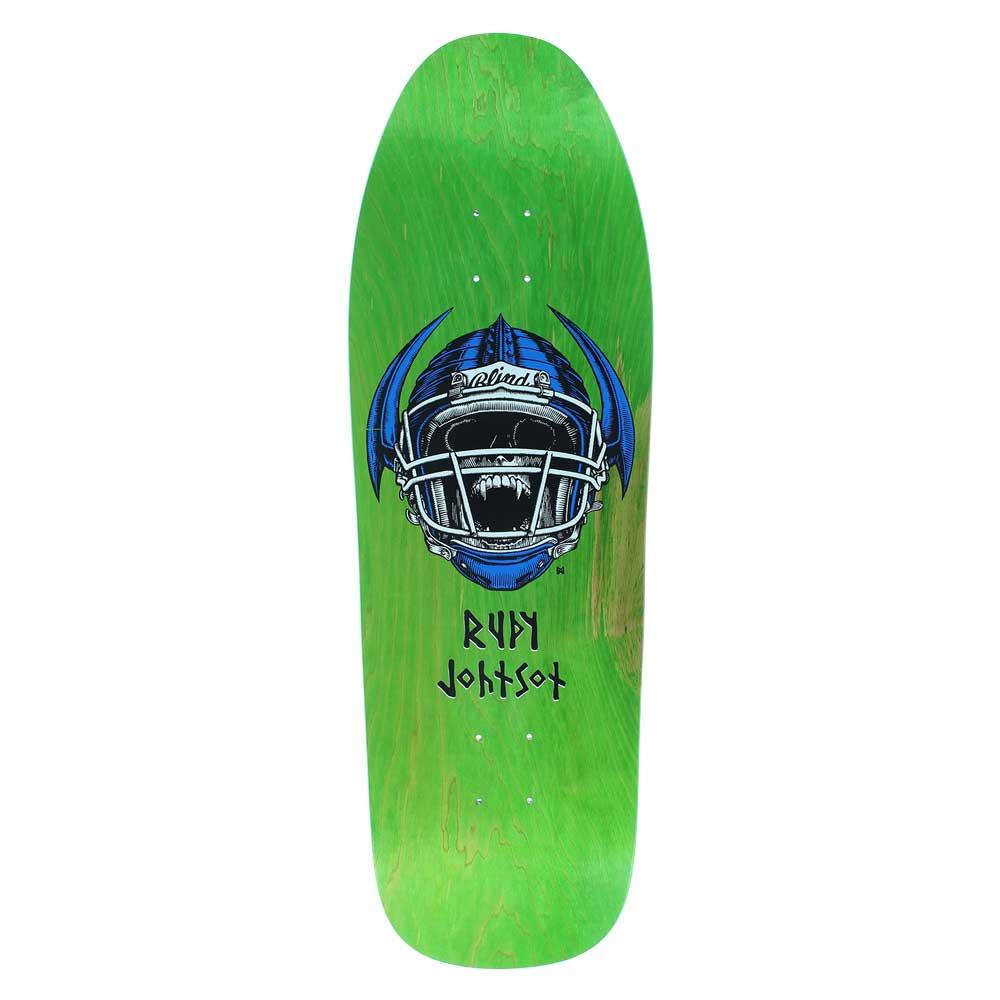 Blind Rudy Johnson JOCK SKULL Skateboard Powell Peralta Per Welinder SPOOF GREEN