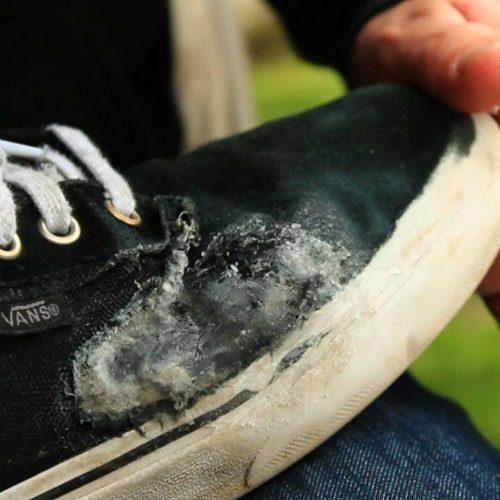 Shoe Goo on shoe