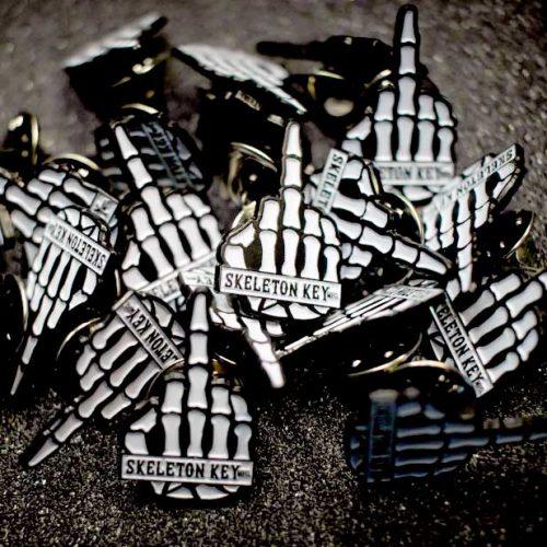 Buy Skeleton Key middle finger pin ack Canada Online Sales Vancouver Pickup