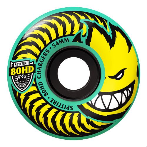 Spitfire Chargers 58mm 80HD Turquoise Wheels