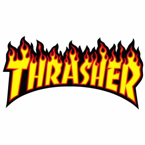 Thrasher Flames Sticker vancouver