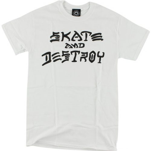 Thrasher Skate And Destroy T Shirt White