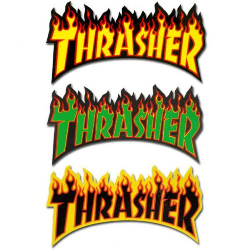 Thrasher large flames stickers colours vancouver